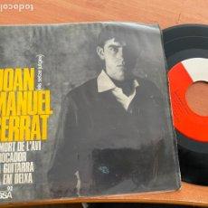 Discos de vinilo: JOAN MANUEL SERRAT (UNA GUITARRA + 3 ) EP ESPAÑA FIRMADO Y DEDICADO POR AUTOR (EPI21). Lote 239485350