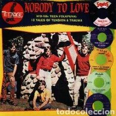 Discos de vinilo: NOBODY TO LOVE (MID-60'S TEEN FOLKPUNK: 18 TALES OF TENSION & TRAUMA) LP VINILO PRECINTADO. GARAGE. Lote 239501130