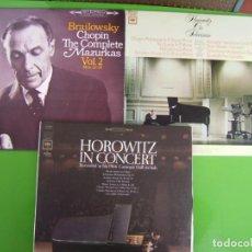 Discos de vinilo: LOTE DE 4 LPS DE PIANISTAS CLASICOS (3 DE HOROWITZ Y 1 DE BRAILOWSKY). Lote 239518225