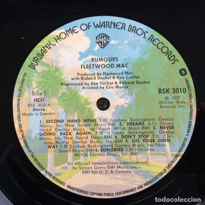 Discos de vinilo: Fleetwood Mac – Rumours Scandinavia,1977 Warner Bros Records - Foto 3 - 239518950