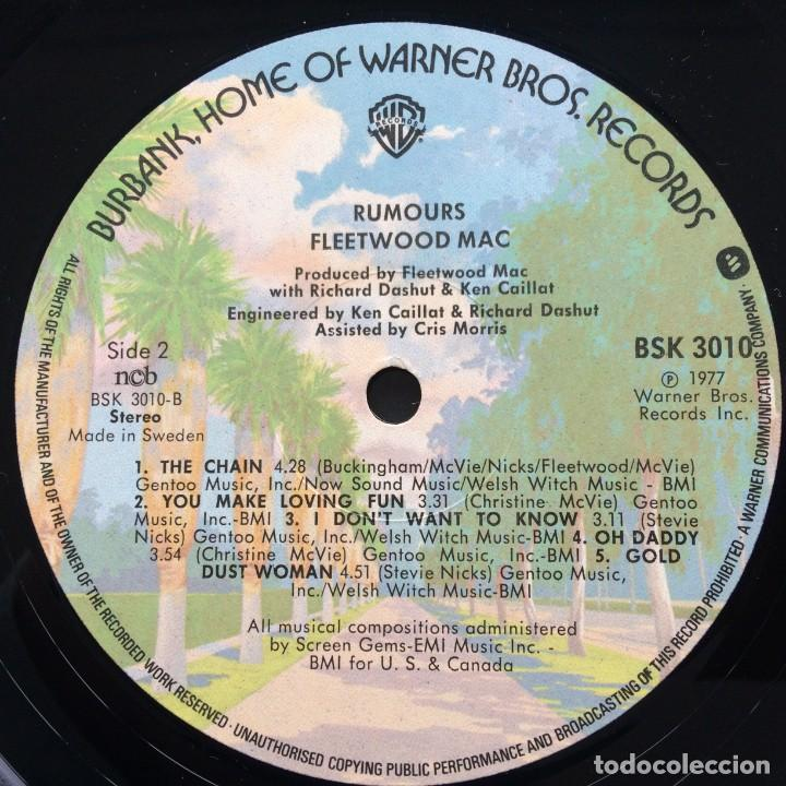 Discos de vinilo: Fleetwood Mac – Rumours Scandinavia,1977 Warner Bros Records - Foto 4 - 239518950