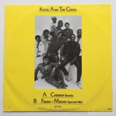 Discos de vinilo: KOOL & THE GANG ‎– CHERISH (REMIX) / FRESH / MISLED (SPECIAL MIX) FINLAND,1985 POLARVOX. Lote 239519060