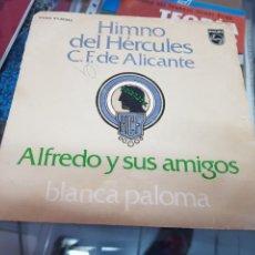 Discos de vinilo: SINGLE DISCO MUSICA HIMNO FUTBOL HERCULES C F ALICANTE. Lote 239539780