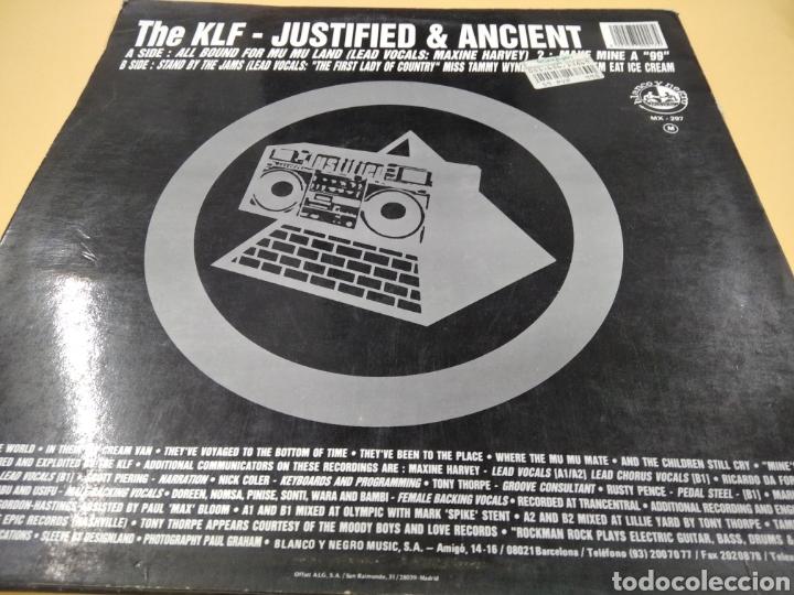 Discos de vinilo: The KLF Justified & Ancient Lp - Foto 2 - 239549520