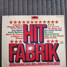 Discos de vinilo: VINILO ALBUM - HIT FABRIK - VARIOS TENAS DE ABBA Y OTROS CANTANDO CANCIONES DE ABBA - LONG PLAY 33.. Lote 239565650