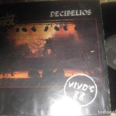 Discos de vinil: DECIBELIOS - VIVO'S 88 (DRO -1987) EDITADO ESPAÑA LEA DESCRIPCION. Lote 239582840