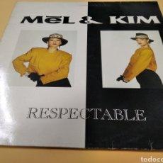 Discos de vinilo: MEL & KIM RESPECTABLE MAXI SINGLE. Lote 239646700