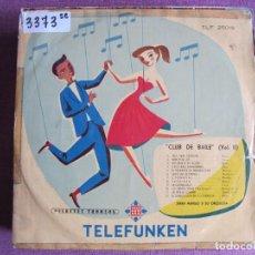 Disques de vinyle: 10 PULGADAS - CLUB DE BAILE VOL. II - JERRY MENGO Y SU ORQUESTA (SPAIN, TELEFUNKEN SIN FECHA). Lote 239662095