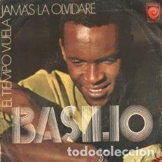 Discos de vinilo: BASILIO – EL TIEMPO VUELA / JAMAS LA OLVIDARE. Lote 239671125