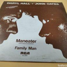 Discos de vinilo: DARYL HALL + JOHN OATES MANEATER FAMILY MAN. Lote 239673690