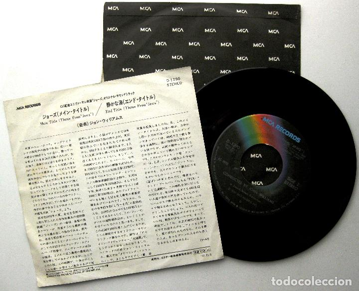 Discos de vinilo: John Williams / Steven Spielberg - Jaws (Tiburón) - Single MCA Records 1975 Japan BPY - Foto 2 - 239762270