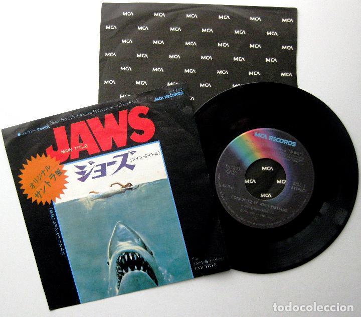 JOHN WILLIAMS / STEVEN SPIELBERG - JAWS (TIBURÓN) - SINGLE MCA RECORDS 1975 JAPAN BPY (Música - Discos - Singles Vinilo - Bandas Sonoras y Actores)