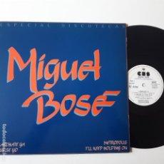 Discos de vinilo: MIGUEL BOSE - MARCHATE YA - MAXI SINGLE 1981- ESPECIAL DISCOTECAS- EXC. ESTADO.. Lote 239773965