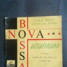 Discos de vinilo: STAN GETZ. CHARLIE BYRD. BOSSA NOVA. DESAFINADO. EP. 1962.. Lote 239784910