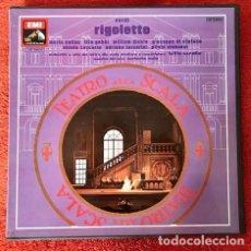 Discos de vinilo: VERDI: RIGOLETTO (MARIA CALLAS, TITO GOBBI, WILLIAM DICKIE, GIUSEPPE DI STEFANO) *CAJA 3 LP*. Lote 239852750