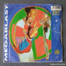 Discos de vinilo: VINILO SINGLE BOMB THE BASS MEGABLAST. Lote 239853690