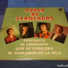 Discos de vinilo: EXPRO DOBLE LP ESPANA 72 POKER DE FLAMENCOS CAMARON Y OTROS BASTANTES LINEAS LEVES. Lote 239866345