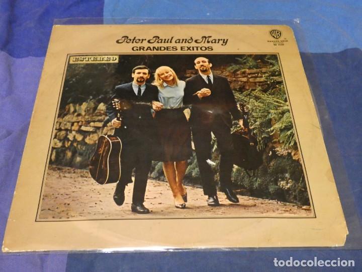 EXPRO LP ESPAÑA 1975 PETER PAN AND MARY GRANDES EXITOS VINILO CON TROTE AUDIBLE (Música - Discos - LP Vinilo - Pop - Rock - Internacional de los 70)