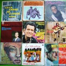 Discos de vinilo: LOTE 9 SINGLES (BARBARA Y DICK, ENRIQUE GUZMAN, JOSE FELICIANO, LOS LLOPIS, BASILIO, A. MANZANERO.... Lote 239890685