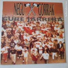 Discos de vinilo: NEGU GORRIAK- GURE JARRERA- LP 1991 + LIBRETO- KORTATU- FERMIN MUGURUZA- VINILO COMO NUEVO.. Lote 239956250