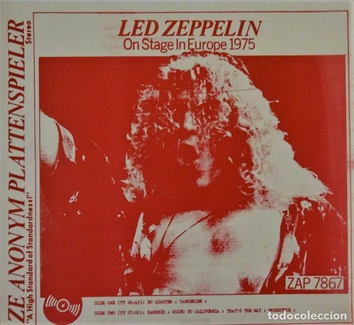 LED ZEPPELIN - ON STAGE IN EUROPE 1975 (Música - Discos - LP Vinilo - Pop - Rock - Internacional de los 70)
