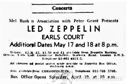Discos de vinilo: Led Zeppelin - On Stage In Europe 1975 - Foto 6 - 239962090