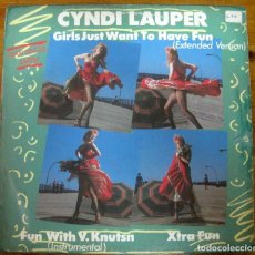 Discos de vinilo: CYNDI LAUPER – GIRLS JUST WANT TO HAVE FUN (EXTENDED VERSION) MAXI. Lote 240016760