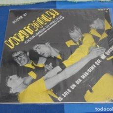 Disques de vinyle: EXPRO LP MAXI SINGLE TEQUILA ES SOLO UN DIA MAS VINILO AZUL NO TIENE POSTER BUEN ESTADO. Lote 240020965