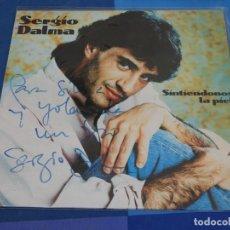 Discos de vinilo: EXPRO LP DEDICADO SERGIO DALMA SINTIENDONOS LA PIEL BUEN ESTADO GENERAL. Lote 240021490