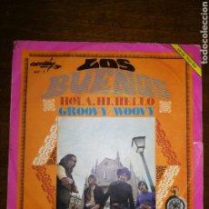 """Disques de vinyle: LOS BUENOS. SINGLE: """"HOLA, HI, HELLO / GROOVY WOOVY"""" (ACCIÓN, 1969). Lote 240031865"""