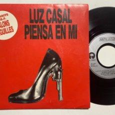 Disques de vinyle: SINGLE EP LUZ CASAL / RYUICHI SAKAMOTO – PIENSA EN MI / TEMA PRINCIPAL EDICION FRANCESA 1992. Lote 240054675