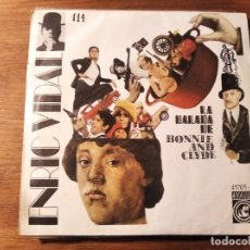 Disques de vinyle: ENRIC VIDAL - LA BALADA DE BONNIE AND CLYDE *** RARO SINGLE POP CATALÁN POP ART COVER PAU RIBA 1968. Lote 240090295
