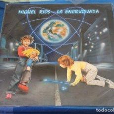 Discos de vinilo: EXPRO LP MIGUEL RIOS LA ENCRUCIJADA 1984 SEÑALES LEVES DE USO CORRECTO. Lote 240093700