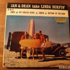 Dischi in vinile: JAN & DEAN - TAKE LINDA SURFIN' *** SUPER RARO EP ESPAÑOL LIBERTY 1963 SURF. Lote 240099735