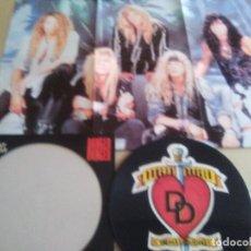 "Discos de vinilo: JOYA PICTURE. LIMITED EDITION 12"" .MONKEY BUSINESS. DANGER DANGER. + POSTER GIGANTE.HEAVY METAL 1991. Lote 240101315"