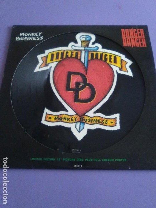 "Discos de vinilo: JOYA PICTURE. LIMITED EDITION 12"" .MONKEY BUSINESS. DANGER DANGER. + POSTER GIGANTE.HEAVY METAL 1991 - Foto 2 - 240101315"