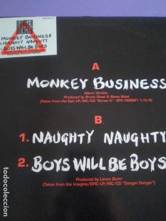 "Discos de vinilo: JOYA PICTURE. LIMITED EDITION 12"" .MONKEY BUSINESS. DANGER DANGER. + POSTER GIGANTE.HEAVY METAL 1991 - Foto 4 - 240101315"