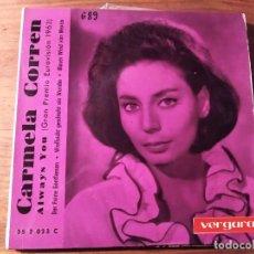 Discos de vinilo: CARMELA CORREN - ALWAYS YOU + 3 *** RARO EP VERGARA ESPAÑOL EUROVISIÓN 1963. Lote 240105275