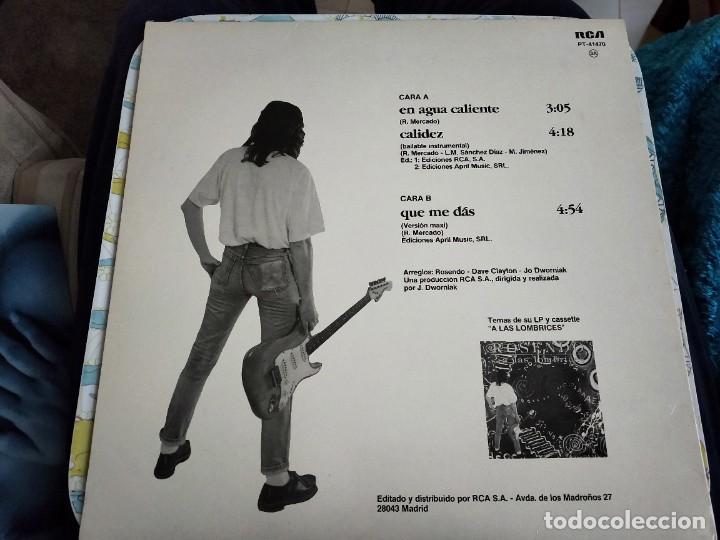 "Discos de vinilo: Rosendo - En Agua Caliente (12"", Maxi) Sello:RCA Cat. nº: PT-41470. COMO NUEVO . MINT / NEAR MINT - Foto 2 - 240113610"