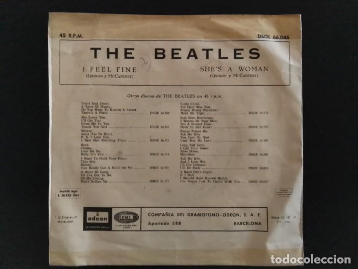 Discos de vinilo: SINGLE - THE BEATLES - I FEEL FINE / SHES A WOMAN - ODEON DSOL 66.046 - 1964 ESPAÑA - Foto 2 - 240116930