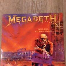 """Discos de vinilo: MEGADETH """" PEACE SELLS BUT WHOS BUYING"""" . EDICIÓN HOLANDESA . 1986. CAPITOL RECORDS. REEDICIÓN. Lote 240135585"""