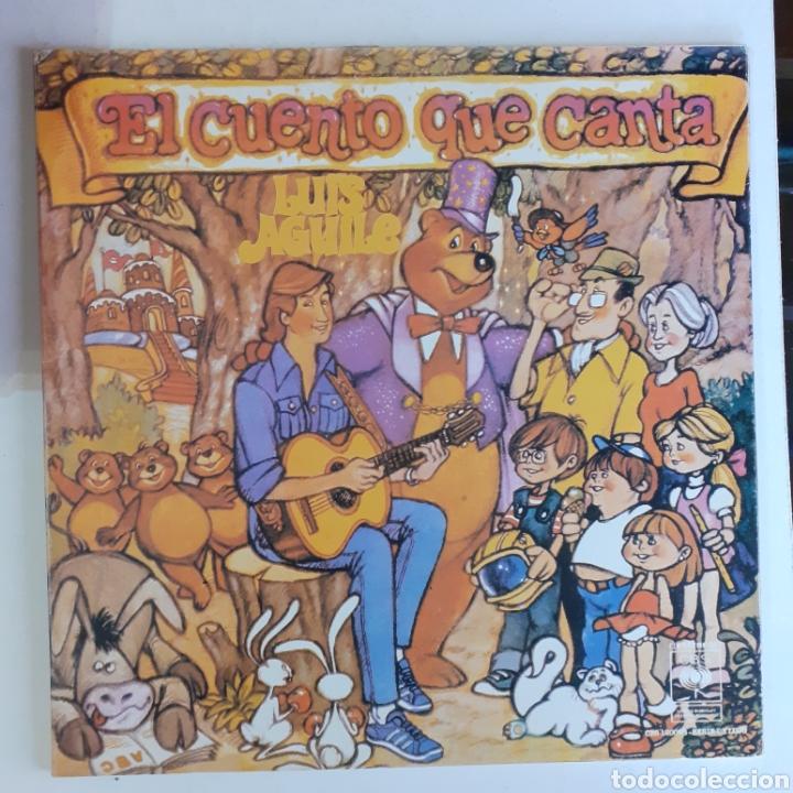 EL CUENTO QUE CANTA. LUIS AGUILE. GATEFOLD. PP 210-87. COSTA RICA 1980. DISCO VG+. CARÁTULA VG+. (Música - Discos - LPs Vinilo - Música Infantil)