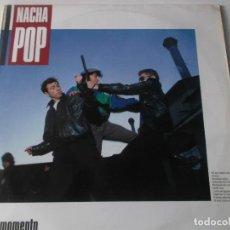 Discos de vinilo: NACHA POP EL MOMENTO LP VINILO DEL AÑO 1987 ENCARTE ANTONIO VEGA CONTIENE 10 TEMAS NACHO GARCIA VEGA. Lote 240188875