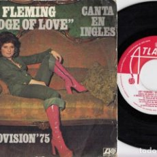 Discos de vinilo: JOY FLEMING - EUROVISION 1975 - SINGLE EDICION ESPAÑOLA CANTADO EN INGLES EIN LIED KANN EINE BRÜCKE. Lote 240191010