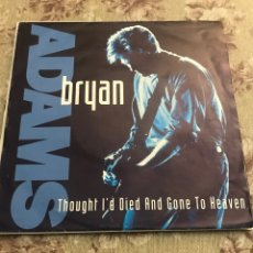 """Discos de vinilo: BRYAN ADAMS 7"""" (THOUGHT I'D DIED AND GONE TO HEAVEN). Lote 240198490"""