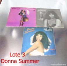 Discos de vinilo: LOTE DE 3 VINILOS -- DONNA SUMMER --. Lote 240228750