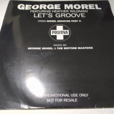 Discos de vinil: MAXI - GEORGE MOREL FEATURING HEATHER WILDMAN ‎– LET'S GROOVE - 2LP - 12TIVDJ62 ( VG+ / VG+) UK 96. Lote 240233315