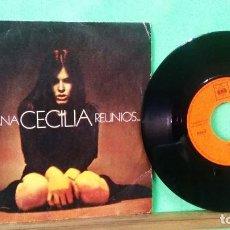 Discos de vinil: CECILIA . MAÑANA. REUNIOS - LIMPIO ,TRATADO CON ALCOHOL ISOPROPÍLICO. AZ. Lote 240236120