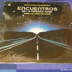 Discos de vinilo: LP BSO OST BANDA SONORA DE LA PELI ENCUENTROS EN TERCERA FASE VINILO CORRECTO JERRY GOLDSMITH. Lote 240241500