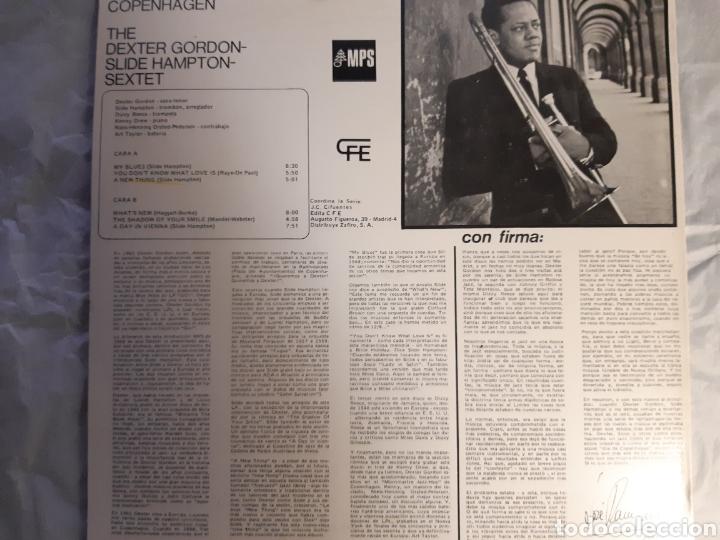 Discos de vinilo: LP DEXTER GORDON AND SLIDE HAMPTON A DAY IN COPENHAGEN ( nuevo) - Foto 2 - 240243130